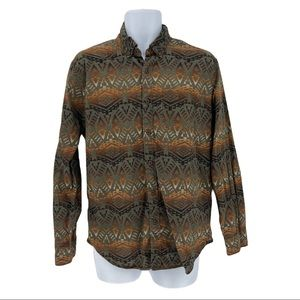 American Eagle Mens Classic Fit Southwestern Button Down Shirt Size M